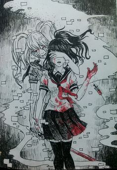Fun girl and Ayano (yandere simulator) by TachTan-- The only one who can take out ayano