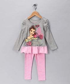 Take a look at this Heather Gray Belle Tunic & Leggings - Toddler by Disney Girls on #zulily today!