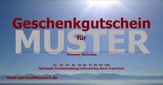 Lifecoach  - Ernst Koch - Spiritual Healer/Teacher: Geschenkgutscheine für mehr Freude, Energie, Wohlfühlen uvm.