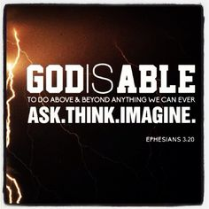 God Is Able .... | Creative Worship | Pinterest | Bible, Scriptures And  Inspirational