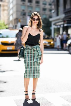 great skirt. Maria Duenas Jacobs in NYC.