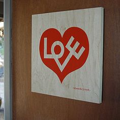 Alexander Girard's Love, printed on plywood $95 -- i think its so cool that this is printed on plywood!