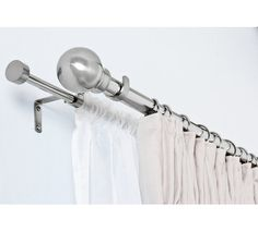 Buy HOME Extendable Double Curtain & Volie Pole - S. Steel at Argos.co.uk, visit Argos.co.uk to shop online for Curtain poles and tracks, Blinds, curtains and accessories, Home furnishings, Home and garden