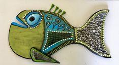 Toby Tacklebox | Etsy Coastal Cottage, Coastal Decor, Wood Burning Art, Amazing Decor, Garden Items, Fish Art, Beach House Decor, Glass Art, Folk