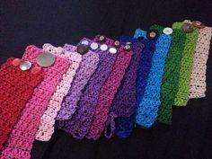 Crochet Cuff Bracelet by MsToryGory on Etsy