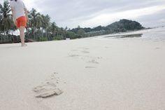 Take a stroll on a powdery sand beach