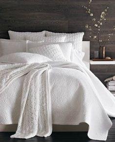 I love white bedroom decor
