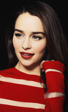 Emilia Clarke. Looks so much prettier without that white blonde hair