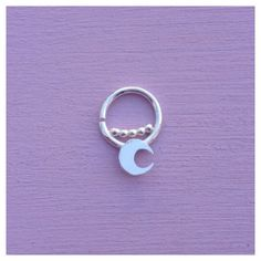 Mini-moon Septum Jewelry Ring Piercing Daith by AliceRubyStudio