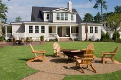 """The Page """"Palmetto Bluff Style Home"""" - traditional - patio - charleston - Shoreline Construction and Development"""
