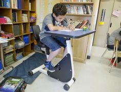Pupitres bici para niños con hiperactividad.