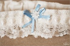 Lovely handmade garter...     Photo by Jason