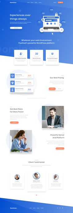 Dominex. Landing page on Behance