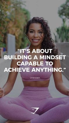 """It's about building a mindset capable to achieve anything."" - Unknown. #Gymshark #Quotes #Motivational #Inspiration #Motivate #Phrases #Inspire #Fitness #FitnessQuotes #MotivationalQuotes"