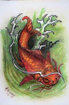 Koi...fish...color pencil...by Amanda Coertze '17