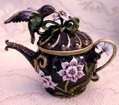 humming bird tea pot