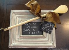 Create an instant framed chalkboard and chalkboard gift tags by using black card stock and chalk {The Creativity Exchange}