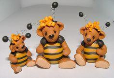 Teddy Bears- Fimo clay art of Manda Theart..