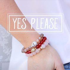 Crystal Rose Quartz Bracelet Celestial Red Carnelian Bracelet Skull Moon Stone Bracelet by detalena