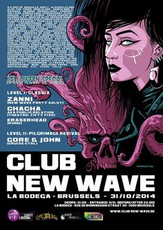 31 OKT 2014 | Club New Wave  Halloween Special | La Bodega | Brussel