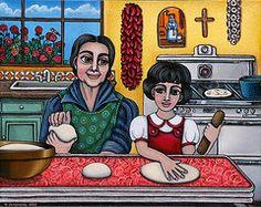 Cooking Paintings - Grandma Kate  by Victoria De Almeida