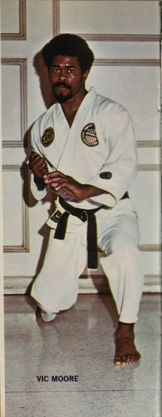 Vic Moore 1974 Official Karate Magazine. Moore was the first Black national karate champion.