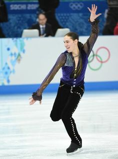 Jason Brown of the United States makes figure skating look fun during his short program at the Sochi Olympics.