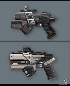 ArtStation - Hand gun Design for the RISING FIRE, Jay Li