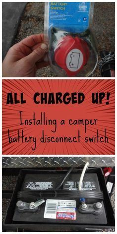 battery disconnect switch Avoid dead camper batteries between trips: It's easy to install a camper battery disconnect switch.Avoid dead camper batteries between trips: It's easy to install a camper battery disconnect switch. Vintage Rv, Vintage Trailers, Vintage Campers, Vintage Travel, Vintage Motorhome, Vintage Caravans, Camper Hacks, Camper Trailers, Travel Trailers