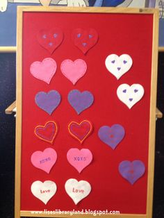 Libraryland: Flannel Friday-Matching Hearts