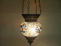 Multi-colored moroccan lantern mosaic hanging lamp glass chandelier light lampen candle lamp tealight holder lampada turca lampada turco candle holder Mosaiklampe Türkische lampen 115 handmade_antiques http://www.amazon.com/dp/B01EDO2T0C/ref=cm_sw_r_pi_dp_aW6exb17M4WP5