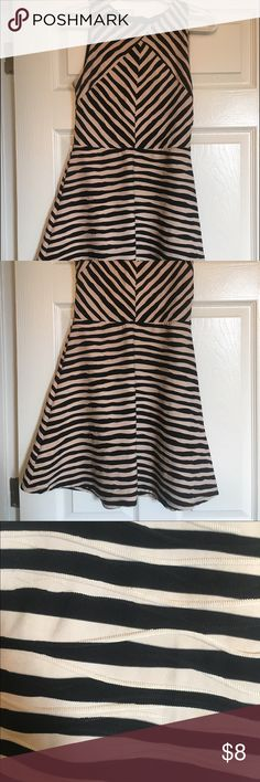 Black/cream dress Black & cream stripes, has a cute texture to it Xhilaration Dresses