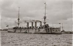 HMS Powerful was a ship of the Powerful-class of protected cruiser in the Royal Navy.IN 1908 SHE WAS FLAGSHIP OF THE RN's AUSTRALIA STATION WHEN THE USN's GREAT WHITE FLEET CAME CALLING.
