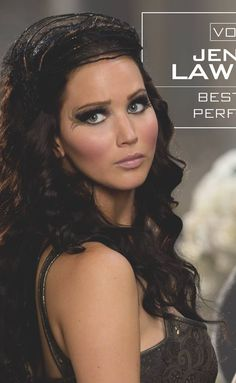 Katniss during the chariot scene in catching fire, so hot right now. Let me also add that her eyes are toootally grey eyes from the Seam in district 12