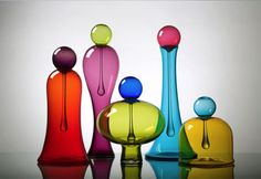 Waterdrop Vases - Nine Iron Studios, INc.: hand blown glass ... oh my
