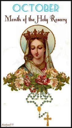 Devotion for October, The Month of the Holy Rosary – AnaStpaul Catholic Doctrine, Catholic Religion, Catholic Prayers, Catholic Saints, Teaching Religion, Catholic Quotes, Catholic Art, Blessed Mother Mary, Blessed Virgin Mary