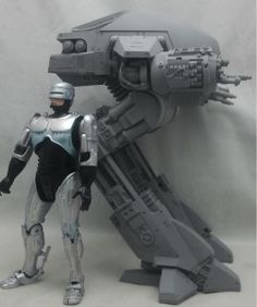 Anticipation has been high for the Robocop ED-209 Action Figure since we first unveiled it at Toy Fair earlier this year. Rightly so. Our ED-209 is terrifyingly accurate to the 1987 original, and as you can see in the pic above, just as ominous.