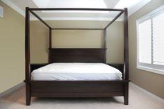 Solid Wood Farmington Canopy Bed Frame