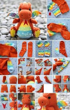 23 Clever DIY Christmas Decoration Ideas By Crafty Panda Diy Sock Toys, Sock Crafts, Easy Diy Crafts, Baby Crafts, Diy Toys, Diy Crafts To Sell, Diy Crafts For Kids, Fun Crafts, Fabric Animals