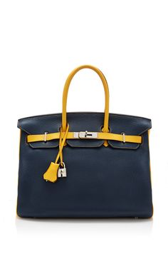 Hermes 35Cm Blue De Malte And Soleil Clemence Special Order Birkin by Heritage Auctions Special Collection for Preorder on Moda Operandi