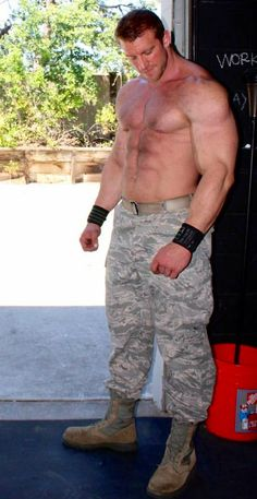 Big hairy military hunks
