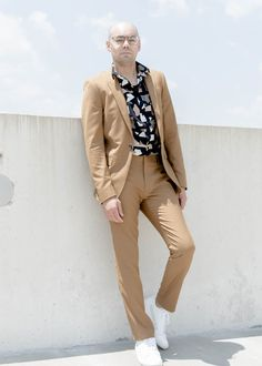 How to Wear Prints with a Suit - Topman Suit + Torn Paper S/S Woven