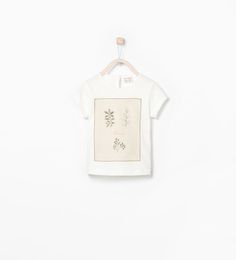 EMBROIDERED TULLE PRINTED T-SHIRT-T-shirts-Baby girl (3 months - 3 years)-KIDS | ZARA United States