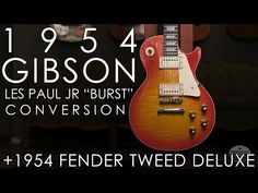 """""""PIck of the Day"""" - 1954 Gibson Les Paul Jr """"Burst"""" Conversion and 1954 Fender Tweed Deluxe Tweed, Gibson Les Paul Jr, Cool Guitar, Guitars, Conversation, Day, Youtube, Guitar, Youtubers"""