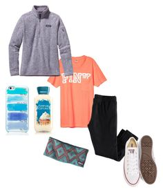 """"""""""" by tayy1199 ❤ liked on Polyvore featuring Patagonia, Converse and Kate Spade"""