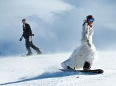 snowboarding wedding - yes. I don't care who I marry, I want to snowboard at my wedding.