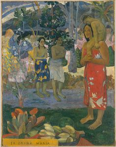 Paul Gauguin, Ia Orana Maria (Hail Mary) 1891, post impressionism  The Metropolitan Museum of Art