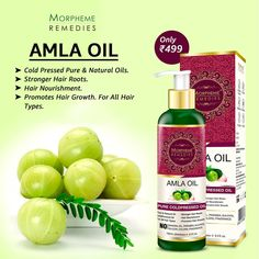 Morpheme Pure Amla Hair Oil is a powerful antioxidant rich in vitamins, essential fatty acids and minerals. It nourishes & strengthens hair from the roots to make it long, strong and beautiful. Amla Hair Oil, Amla Oil, Natural Oils, Natural Beauty, Natural Hair Styles, Hair Tips, Hair Hacks, Body Products, Pure Products