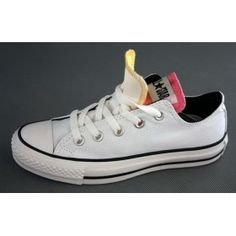 Converse All Star Double Tongue White Yellow Pink Boty Air Jordan e4986014be