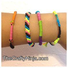 How to make Friendship Bracelets DIY | The Crafty Ninja